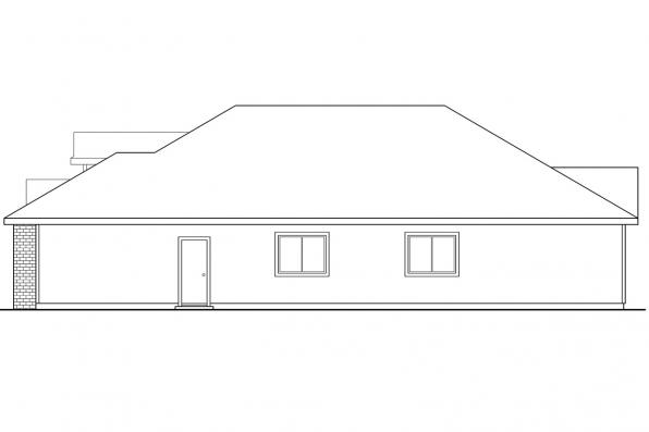 Traditional House Plan - Springdale 30-155 - Left Elevation