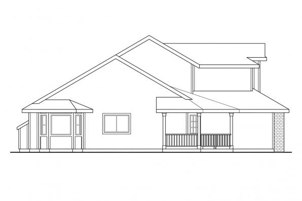 Traditional House Plan - Susanville 30-114 - Right Elevation
