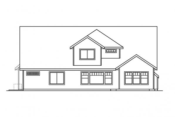 Traditional House Plan - Tamarack 30-426 - Rear Elevation