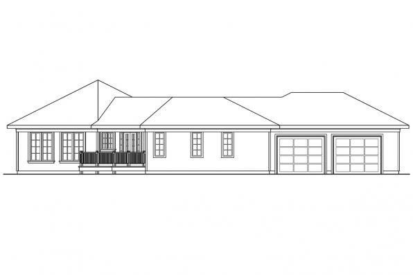 Traditional House Plan - Treyburn 10-497 - Right Elevation