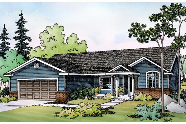Traditional House Plan - Walsh 30-247 - Front Elevation