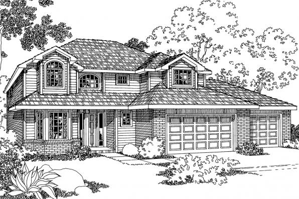 Traditional Home Plan - Westhaven 30-173 - Front Elevation