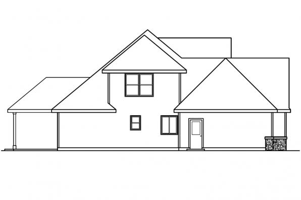 Traditional House Plan - Whitehaven 30-431 - Right Elevation