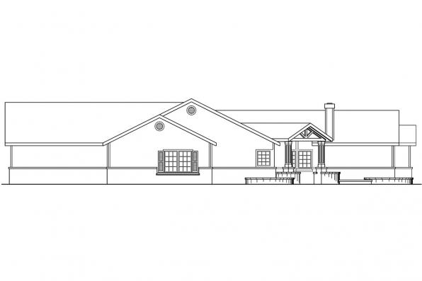 Traditional House Plan - Willston 30-165 - Left Elevation