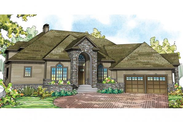 Tudor House Plan - Addison 30-795 - Front Elevation