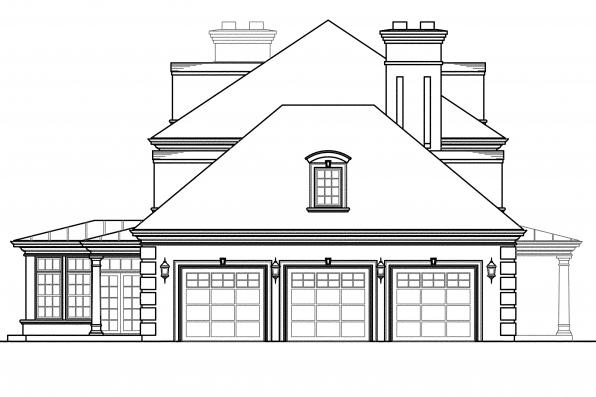 Tudor House Plan - Edgewood 30-313 - Right Elevation