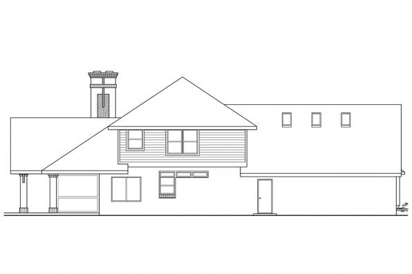Tudor House Plan - Marcellus 10-301 - Right Elevation