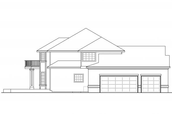 Tudor House Plan - Reynolds 30-396 - Right Elevation