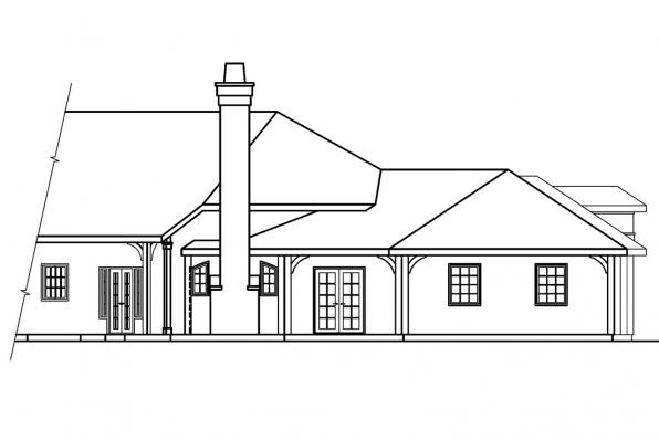 Tuscan House Plan - Macon 30-229 - Right Elevation