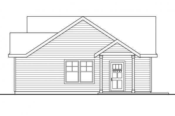 Two Car Garage Plan 20-035 - Right Elevation