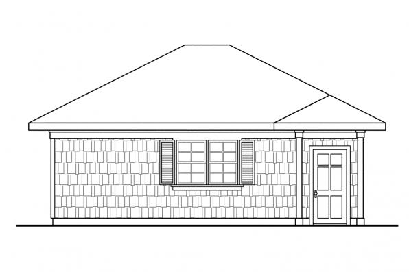Two Car Garage Plan 20-006 - Right Elevation