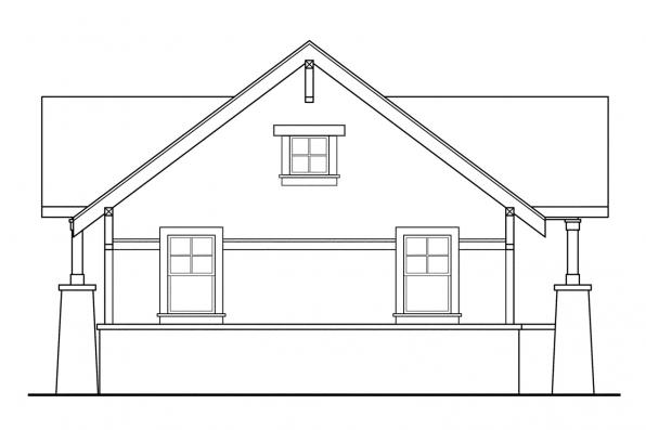 Two Car Garage Plan 20-021 - Right Elevation