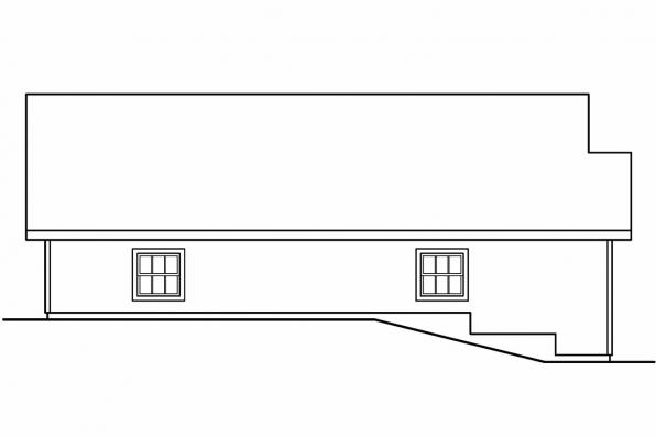 Two Car Garage Plan 20-040 - Right Elevation