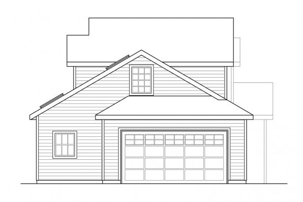 Two Story House Plan - Farmington 31-068 - Right Elevation