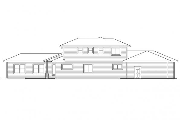 Two Story House Plan - Quail Ridge 31-060 - Right Elevation