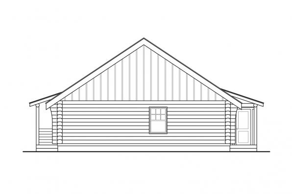 Vacation Home Plan - Clarkridge 30-267 - Left Elevation