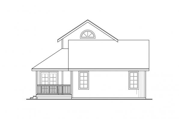 Vacation Home Plan - Riverview 51-003 - Left Elevation
