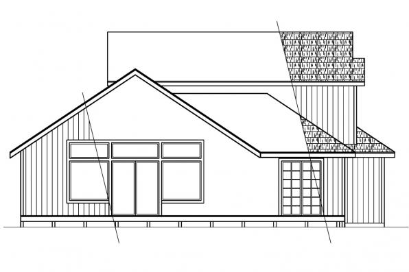 Vacation House Plan - Elsberry 30-265 - Rear Elevation