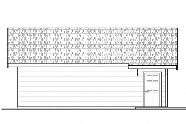 Vacation House Plan - Lakeville 30-998 - Garage Right Elevation