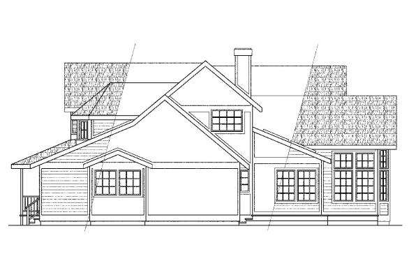 Victorian House Plan - Auburn 10-046 - Left Elevation