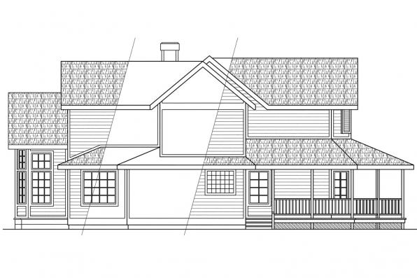 Victorian House Plan - Auburn 10-046 - Right Elevation