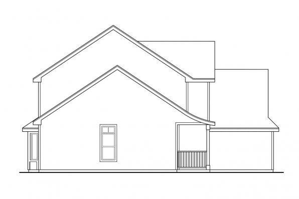 Victorian House Plan - Hudson 30-086 - Right Elevation
