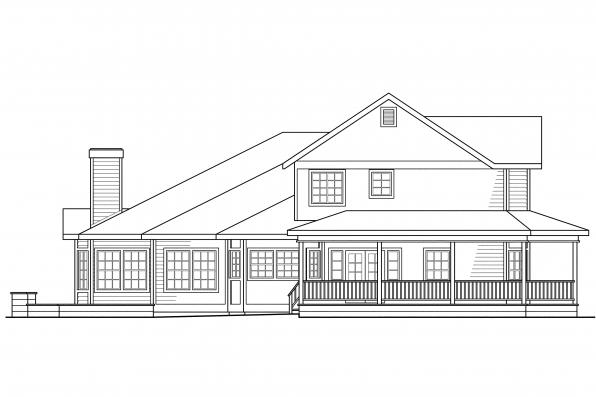 Victorian House Plan - Morgan 10-059 - Right Elevation