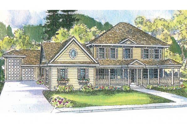 Victorian House Plan - Randell 30-395 - Front Elevation