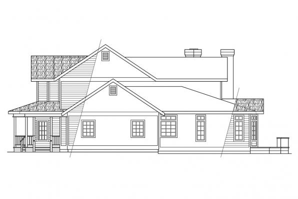 Victorian House Plan - Shelburn 30-035 - Left Elevation