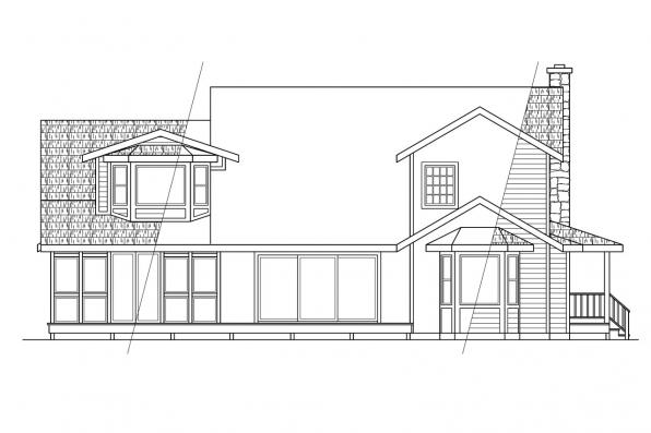 View Lot House Plan - Allegheny 10-204 - Rear Elevation