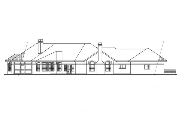 View Lot House Plan - Braxton 11-040 - Rear Elevation