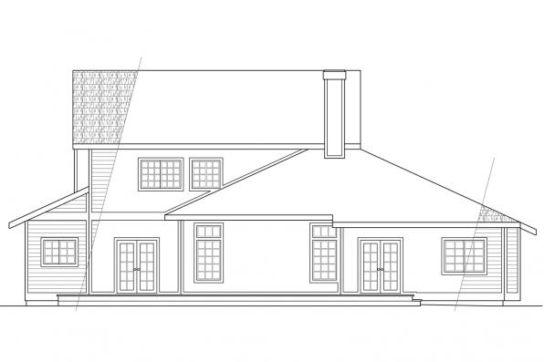 View Lot House Plan - Candelaria 10-014 - Rear Elevation
