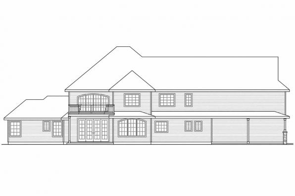 View Lot House Plan - Charlottesville 30-650 - Rear Elevation