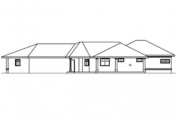 View Lot House Plan - Chatsworth 30-227 - Rear Elevation