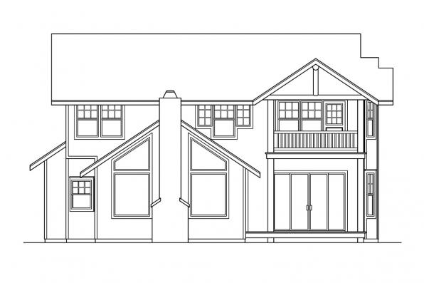View Lot House Plan - Deschutes 30-150 - Rear Elevation