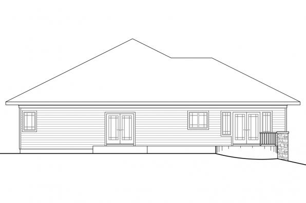 View Lot House Plan - Meadowbrook 30-659 - Rear Elevation