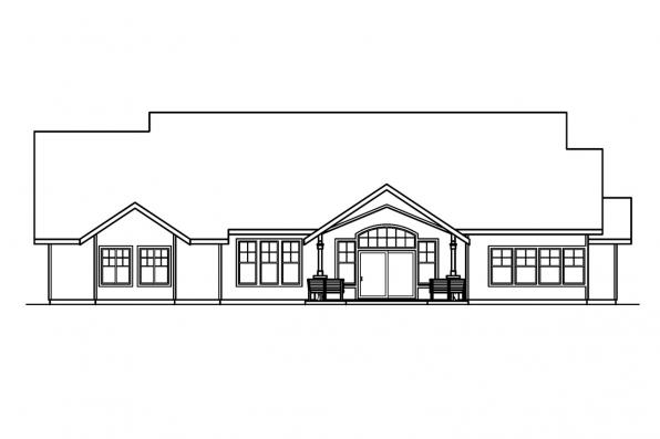 View Lot House Plan - Radisson 30-374 - Rear Elevation