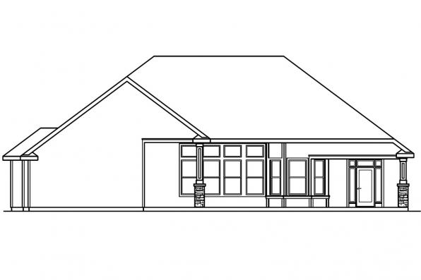 Ranch house plans rosemont 30 376 associated designs House plans for rear view lots