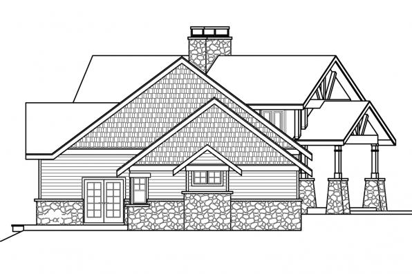 View Lot House Plan - Silverton 30-757 - Right Elevation