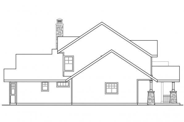 View Lot House Plan - Stratford 30-615 - Right Elevation