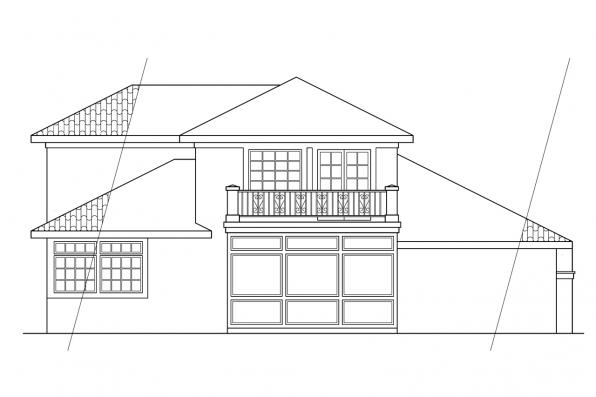 View Lot House Plan - Warrington 11-036 - Rear Elevation