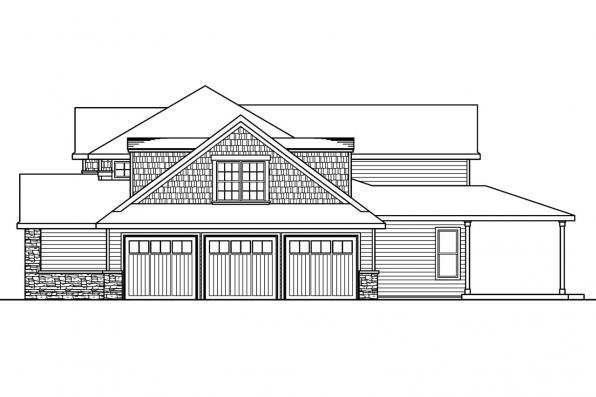 View Lot House Plan - Westchase 30-624 - Left Elevation
