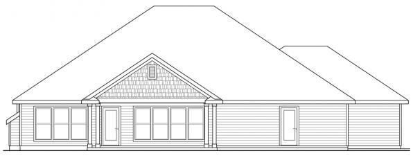 Jamestown - 30-827 - Ranch Home Plans - Rear Elevation