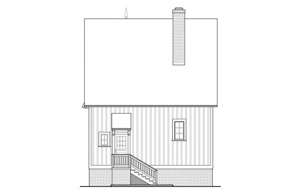 Langston - 42-027 - Victorian Home Plans - Rear Elevation