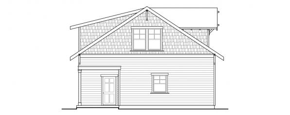 Garage w/Recreation Room - 20-111 - Garage Plan - Right Elevation