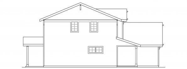 Paisley - 30-852 - Country Home Plan - Right Elevation
