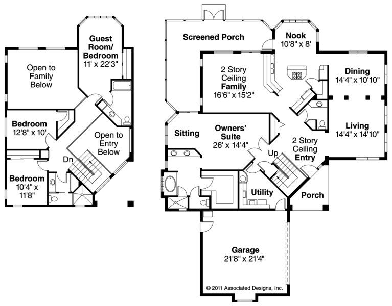 Southwest House Plans Southaven 11 038 Associated Designs