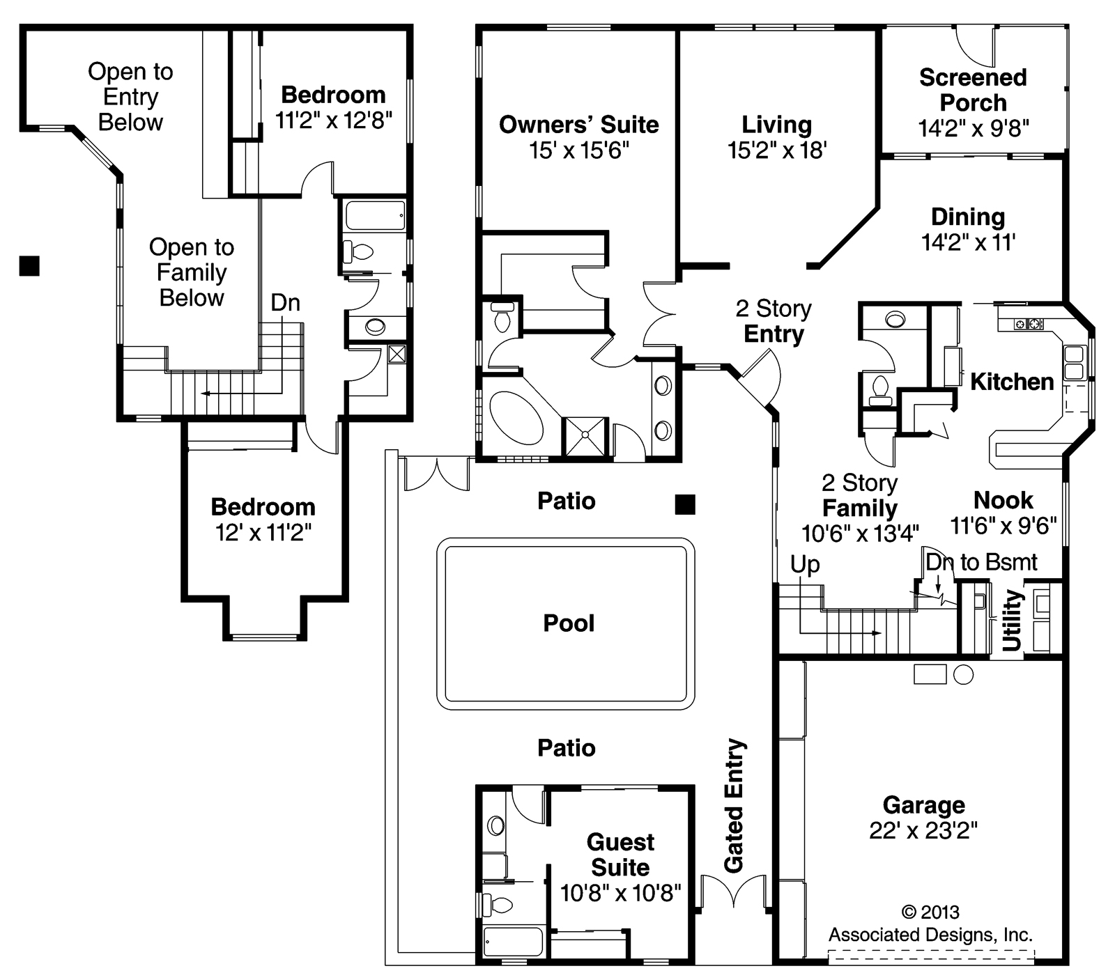 Mediterranean Home Floor Plans: Mediterranean House Plans