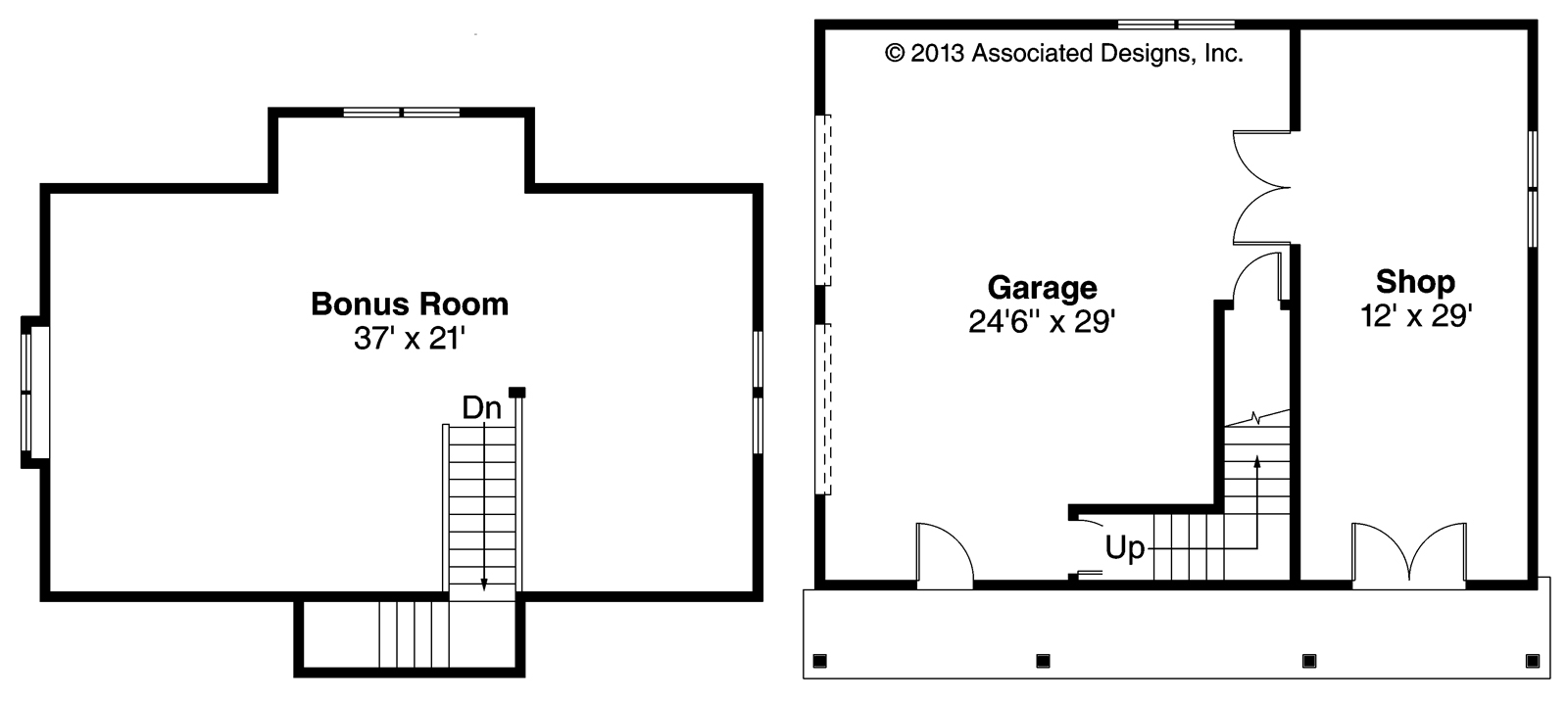 Garage plans with bonus room famin for Garage floor plans