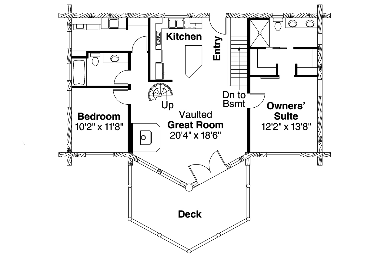 a frame house plan eagle rock 30 919 first floor plan - Rock House Plans